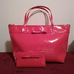 Kate Spade Stacy Camellia St. Lg. Tote & Wallet